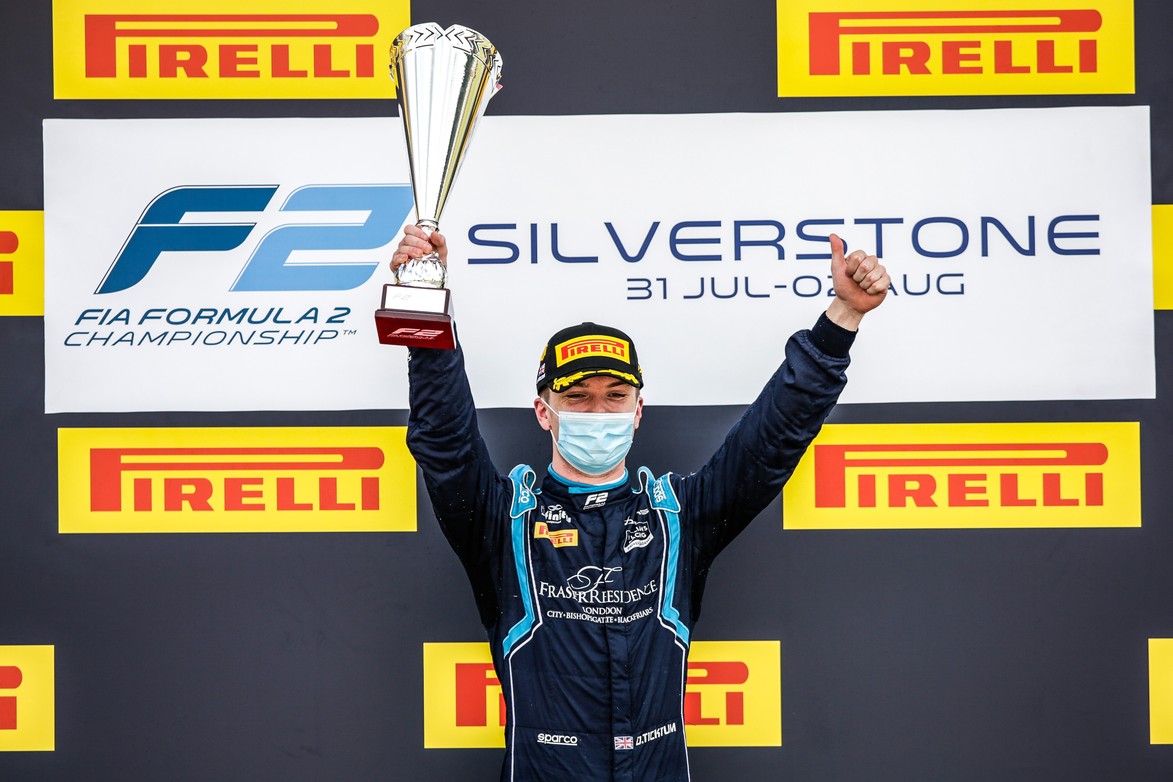 SLICK WIN FOR DAMS F2 LUCAS OIL CAR AT SILVERSTONE