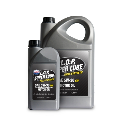 L.O.P. Super Lube Fully Synthetic 5w-30 GM Motor Oil
