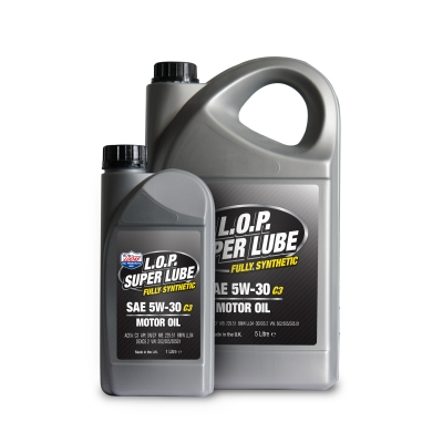 L.O.P. Super Lube Fully Synthetic 5w-30 C3 Motor Oil
